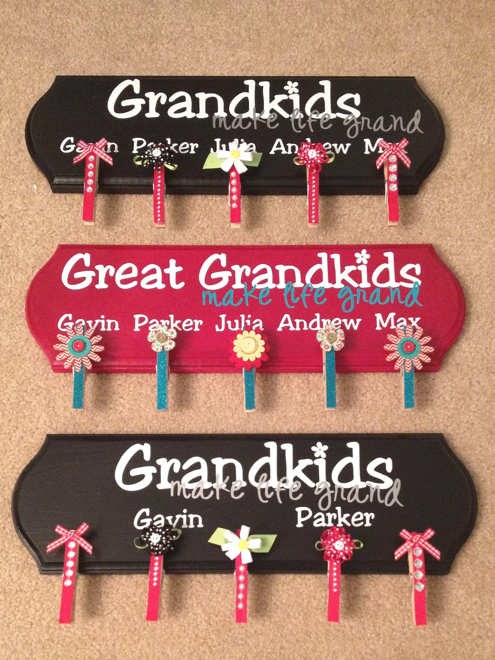 Grandma gift grandkids make life grand great grandma