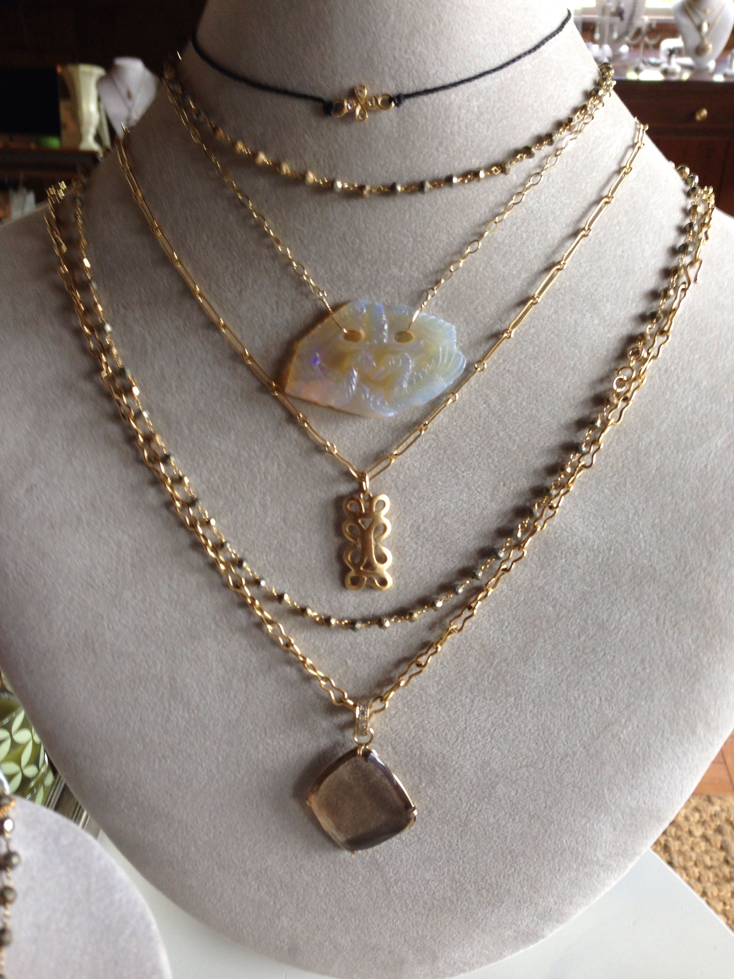 Multi layered -- necklaces -- a few of our fav's  #necklaces #oneofakind #handmade #gold #swdjewelry