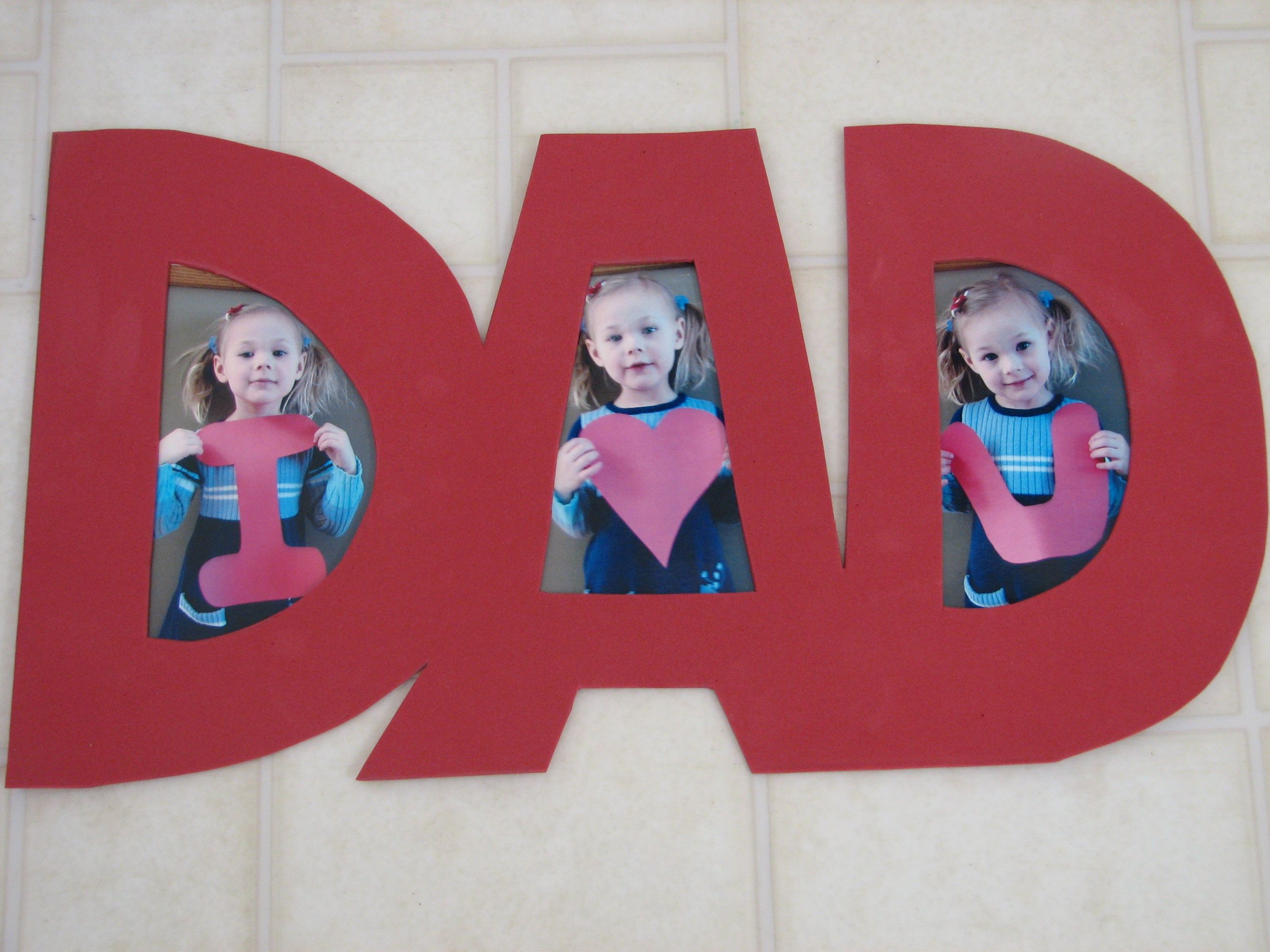 I Love You Dad Photo craft #FathersDay #keepsake #giftfordad