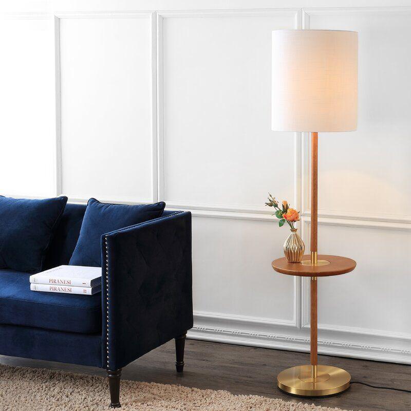 Myla 65 Floor Lamp Brown Floor Lamps Floor Lamp Table Floor Lamp
