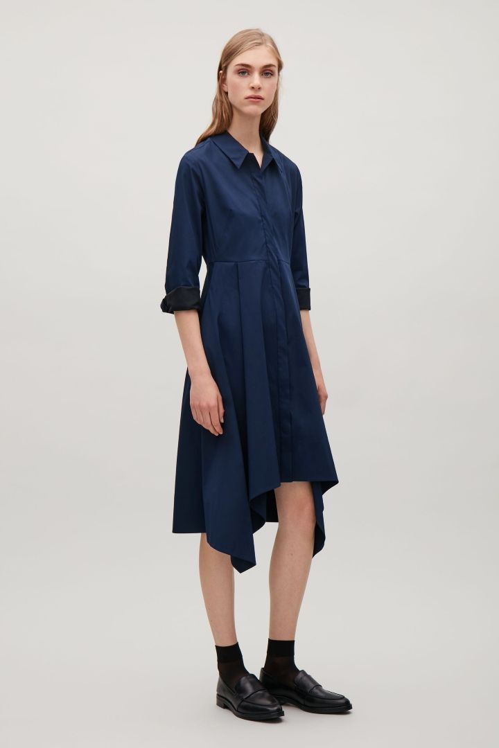 afeafa28e196 COS | Shirt dress with irregular hem | COS | Shirt Dress, Dresses ...