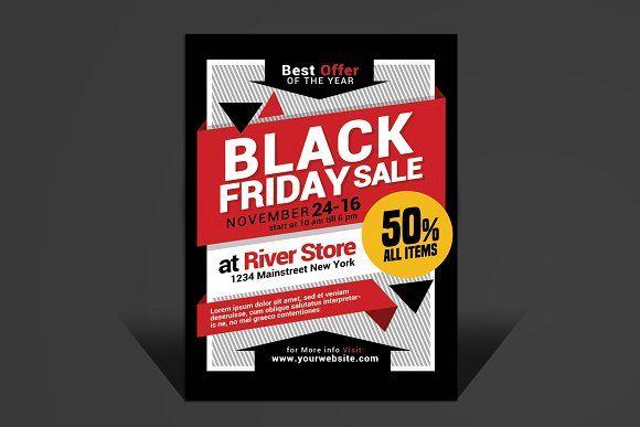 Black Friday Sale Flyer by muhamadiqbalhidayat on @creativemarket - black flyer template