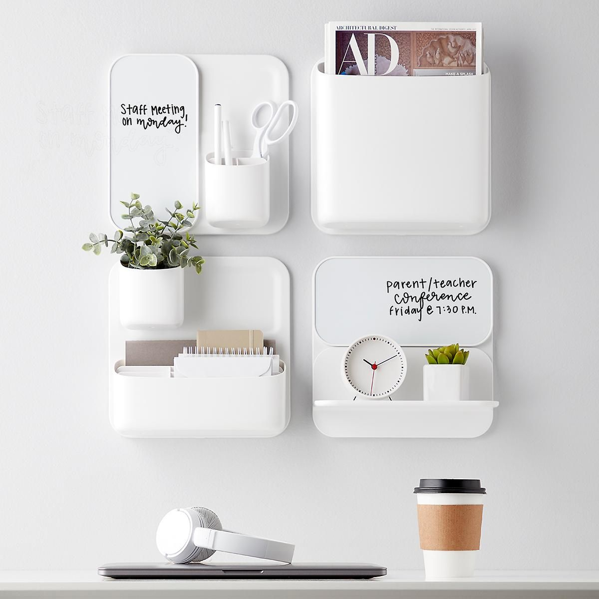 Perch Magnetic Modular System Components Home Office Decor Wall Organization Office Wall Organization