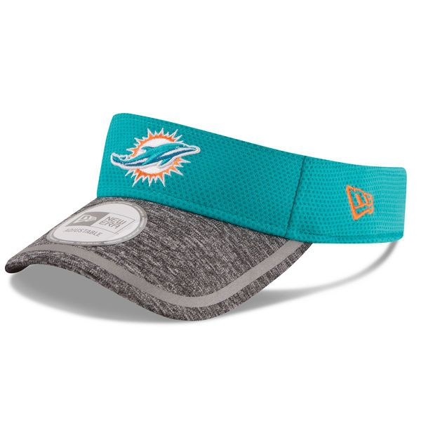 919891df6 Miami Dolphins New Era On Field Training Camp Adjustable Visor - Aqua -   16.79