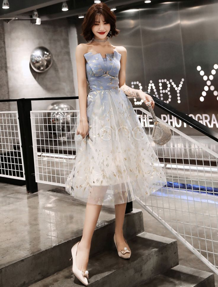 Photo of Ball Gown 2019 A Line Sleeveless Tea Length And …