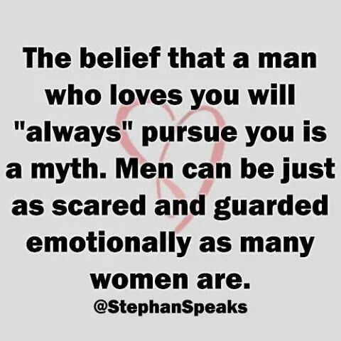 Men can be just as guarded | love | Quotes about love