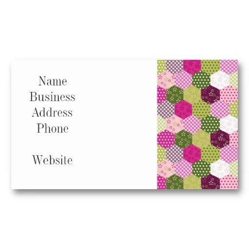 Sold pretty pink green mulberry patchwork quilt design business sold pretty pink green mulberry patchwork quilt design business cards on zazzle reheart Gallery
