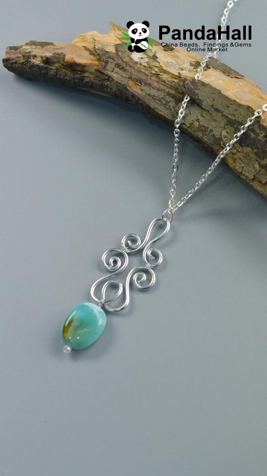 Photo of #PandaHall Wire Winding Pendant Necklace