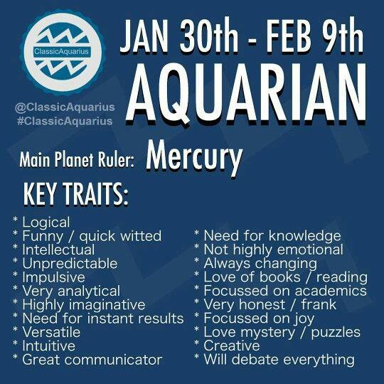 What are the Aquarius dates of birth?