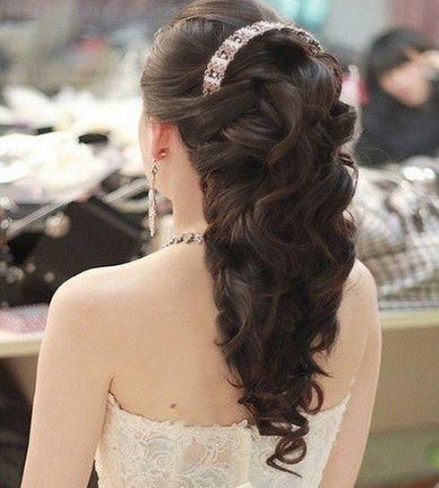Princess Wedding Hairstyles: Long Layered Wedding Hairstyles