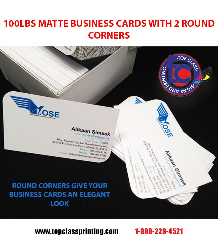 Matte business cards have a clean look the two round corners add an matte business cards have a clean look the two round corners add an elegant yet reheart Gallery