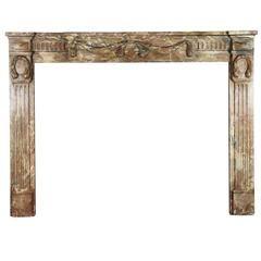 18th Century Empire Period Belgian Marble Fireplace Mantle Antiek Hout En Kasteel