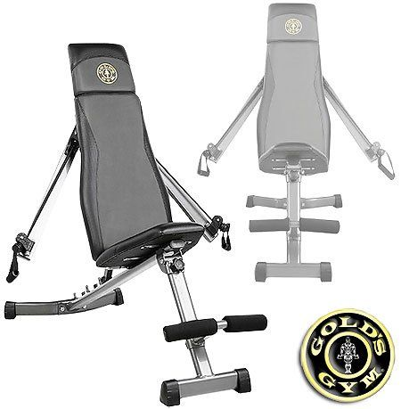 gold's gym ggbe1968 xrs slant bench with adjustable arms