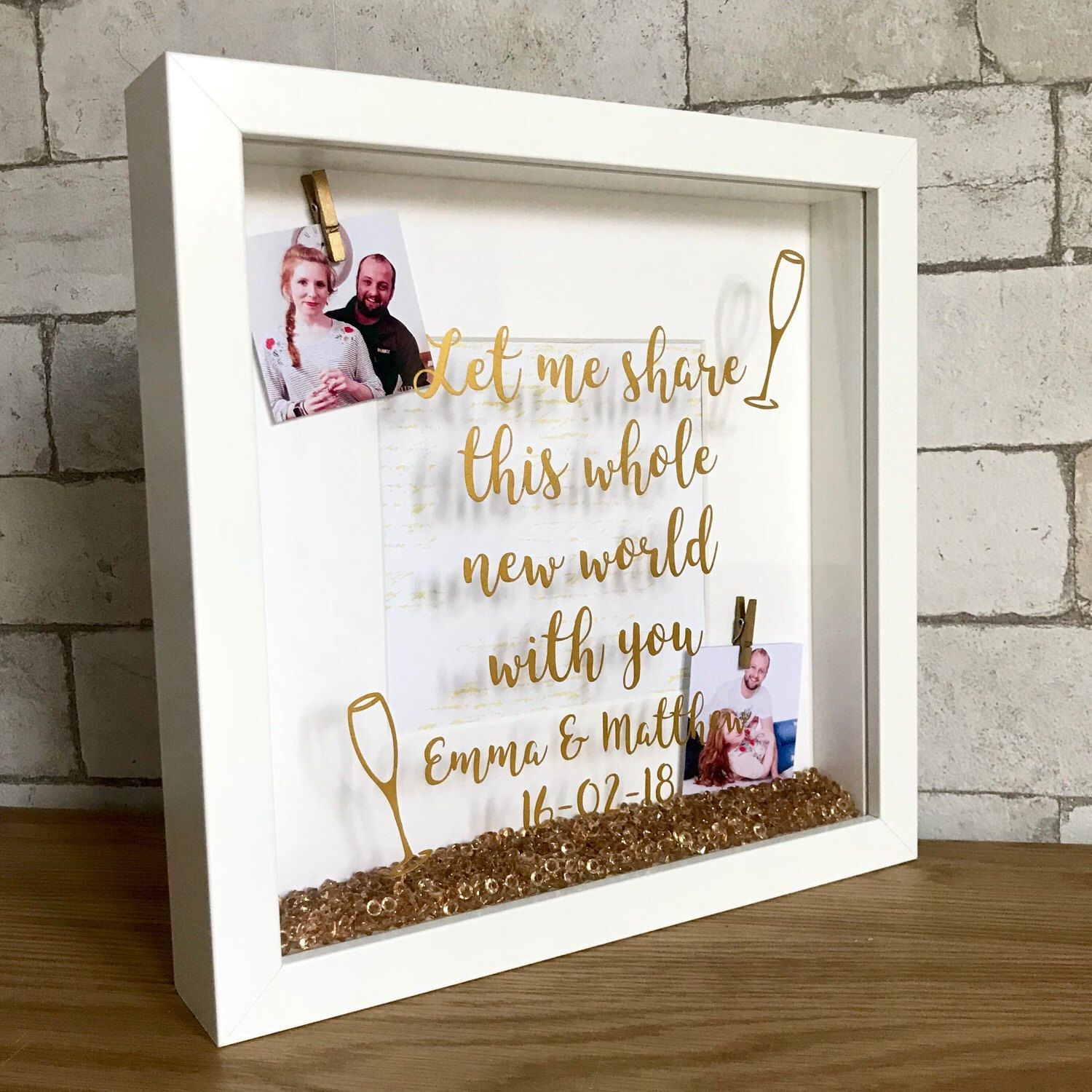 NEW MAKE* This engagement frame had the most loveliest comments from ...
