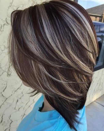Nice Dark Brown Hair Color Ideas 2016 With Highlights  Hairstyle For Male An