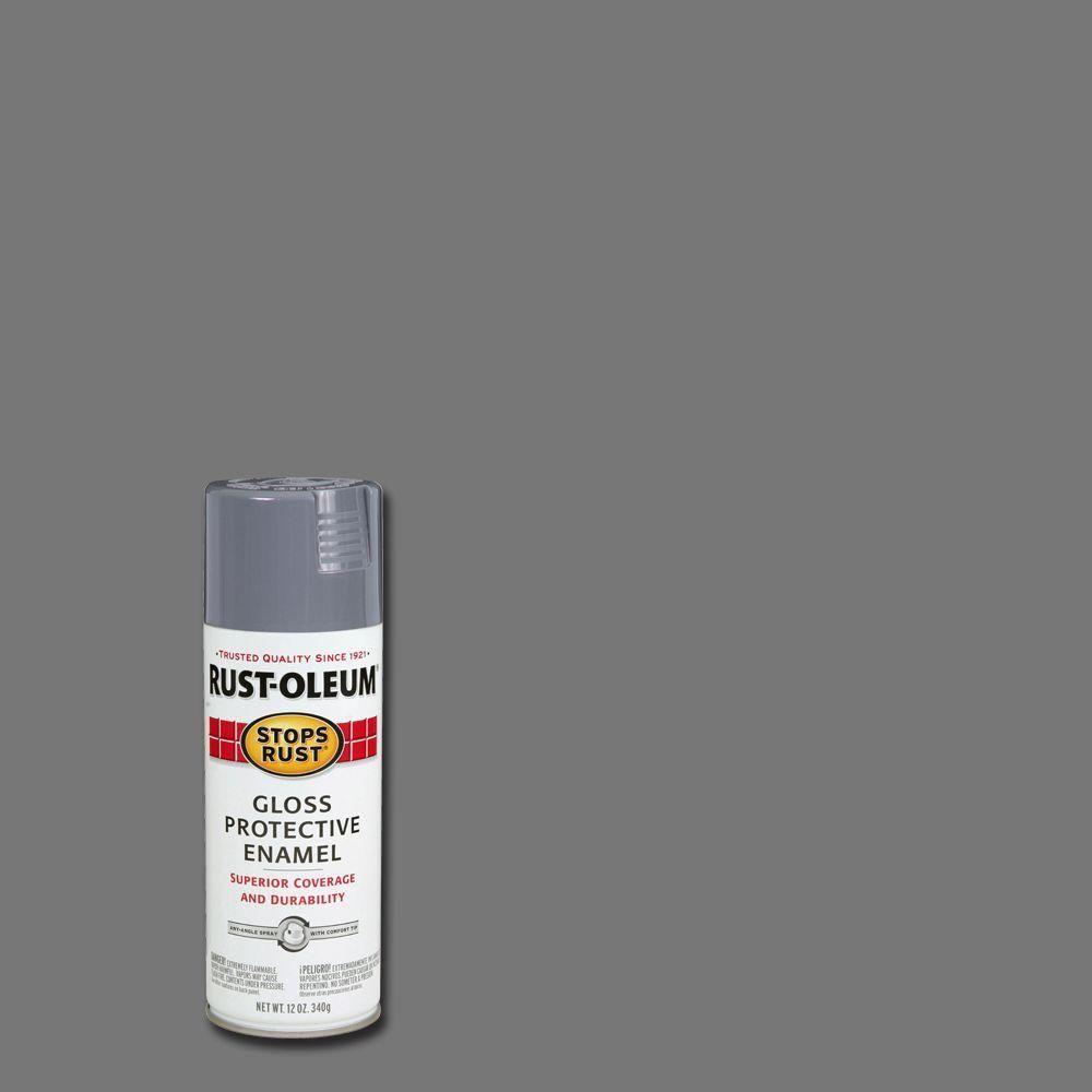 Rust Oleum Stops Rust 12 Oz Protective Enamel Gloss Smoke
