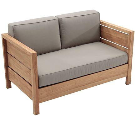 Sofa De Madera De Teca Y Poliester Quebec Leroy Merlin Muebles - Sofas-de-madera