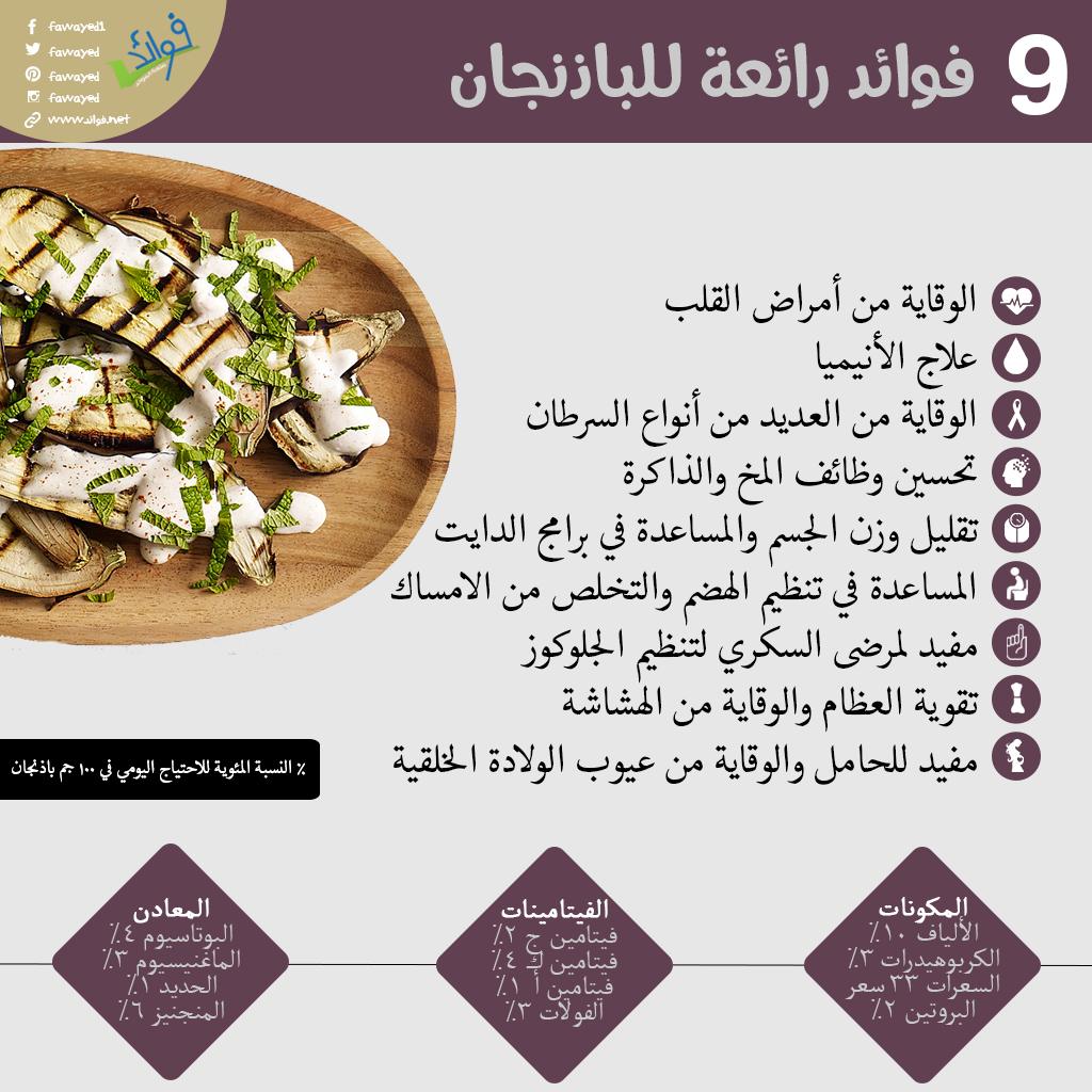 فوائد الباذنجان Health Food Vegetable Benefits Health Fitness Nutrition