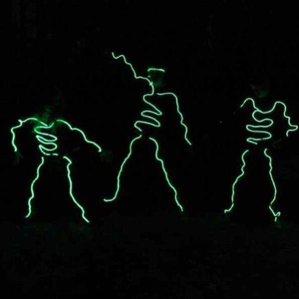El wire costumes at SMCA\'s Haunted Hayride in the forest, in Dublin ...