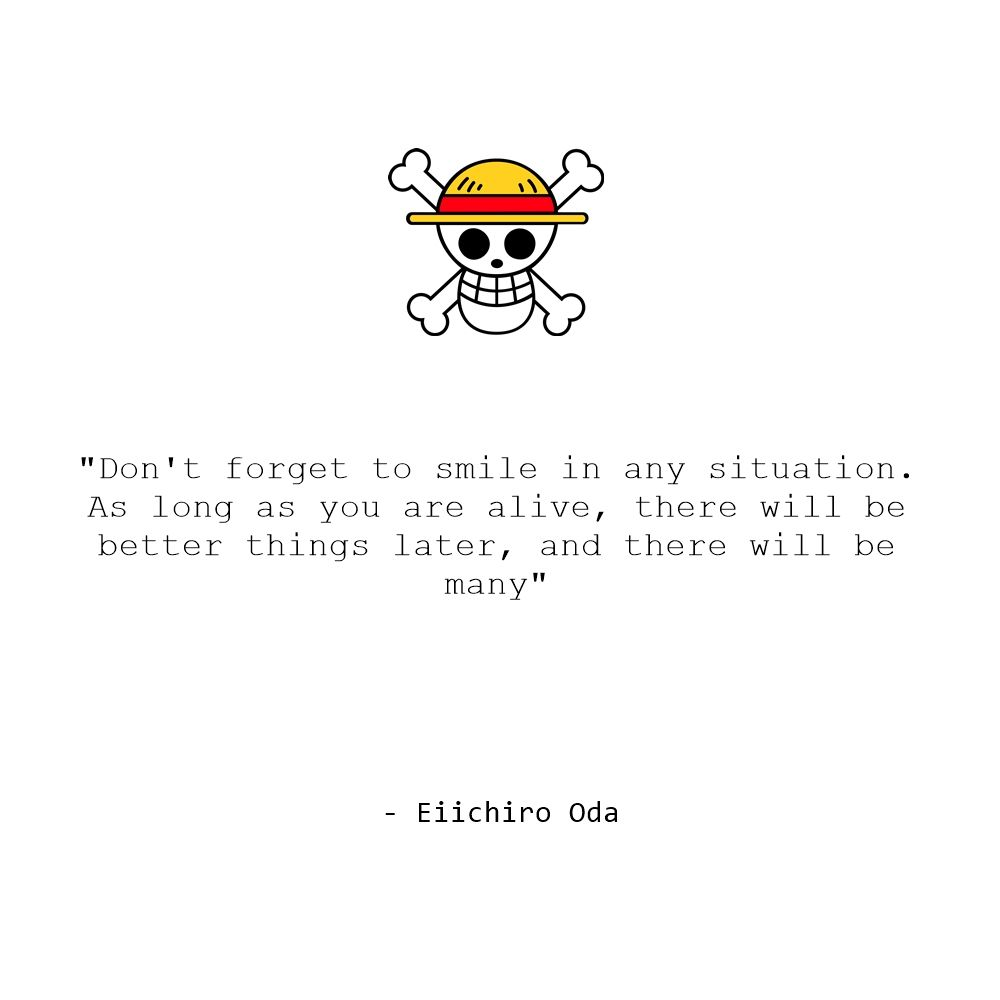 Smokers vow to kick the foul. Straw Hat | One piece quotes, Anime quotes inspirational ...