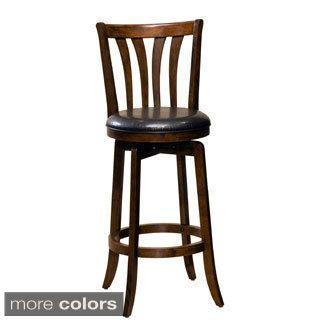Marvelous Solid Medium Oak Windsor Back Swivel Counter Height Bar Pabps2019 Chair Design Images Pabps2019Com