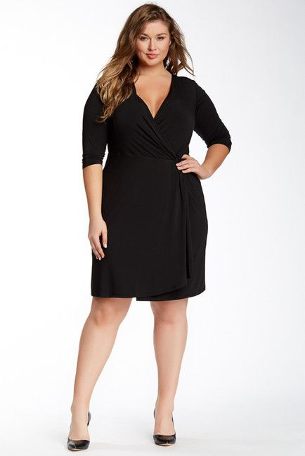 Classic! Plus Size Wrap Dress (on sale Nordstrom Rack) #wishlist ...