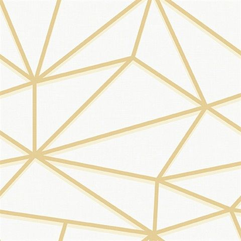 Gt20905 Creme And Gold Quartz Lines Wallpaper Total Wallcovering Seabrook Designs Discount Wallpaper Geometric Wallpaper Gold and white geometric wallpaper