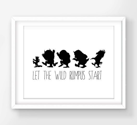 image relating to Let the Wild Rumpus Start Printable known as 30% OFF SALE In which The Wild Aspects Are Print, Make it possible for The Wild