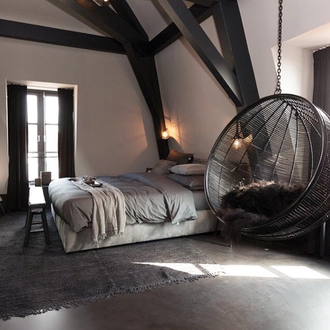 H a n g i n g c h a i r home pinterest bedrooms hanging