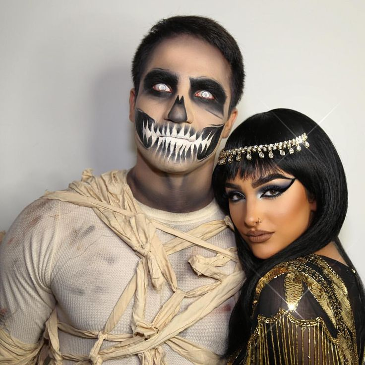 "Ashley Holm on Instagram: ""#Cleopatra & her #Mummy @theprinceofpersia Happy Halloween 2015 Makeup by me on us both! #DIY #ashKholm"" #couplehalloweencostumes"