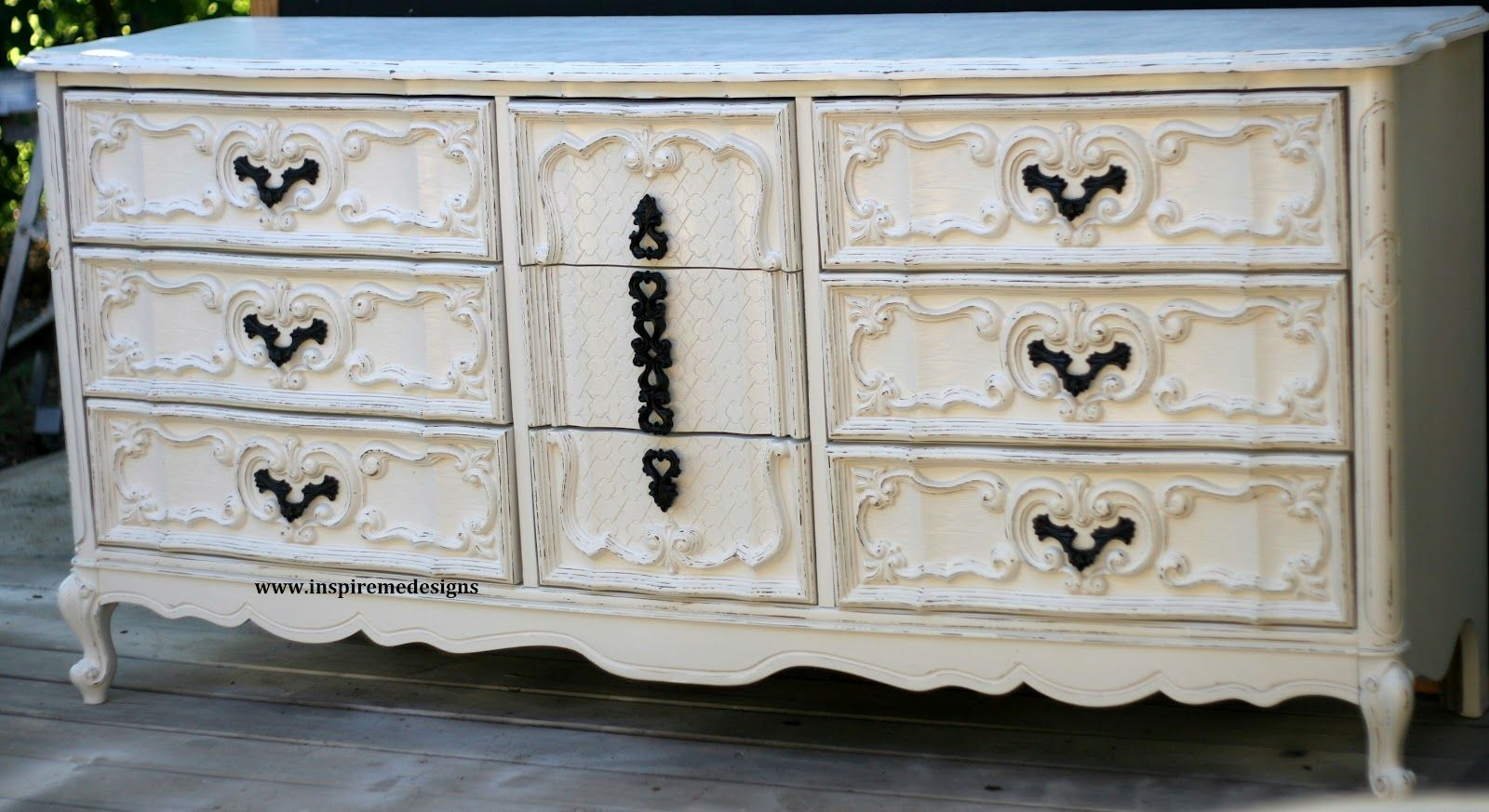 Inspire Me Designs: Vintage shabby chic dresser distressed | dresser ...