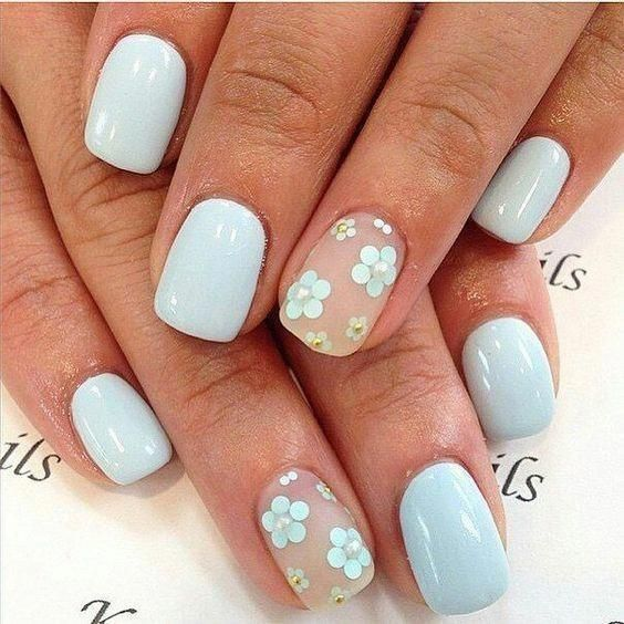 Photo of Blue Blooms – These Pretty Pastel Nails Are Perfect For Spring – Photos #pasteln…