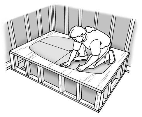 How To Build A Platform For A Bathtub Diy Pinterest