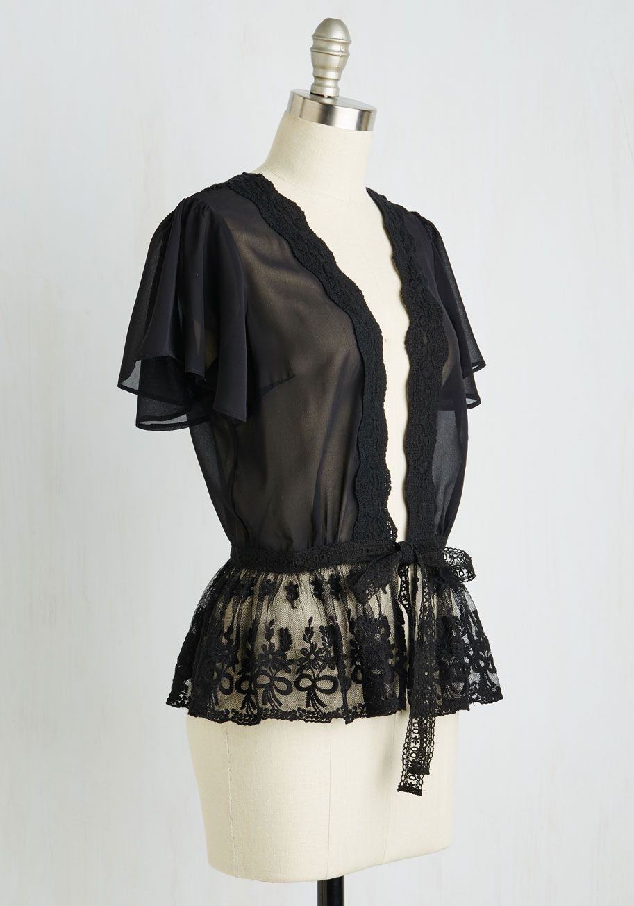 To Quiche Their Own Lace Cardigan in Noir | Shops, Lace and Lace ...