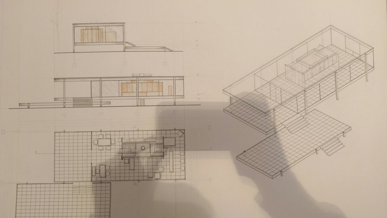 Farnsworth house #plan | Projects | Pinterest | Farnsworth house ...