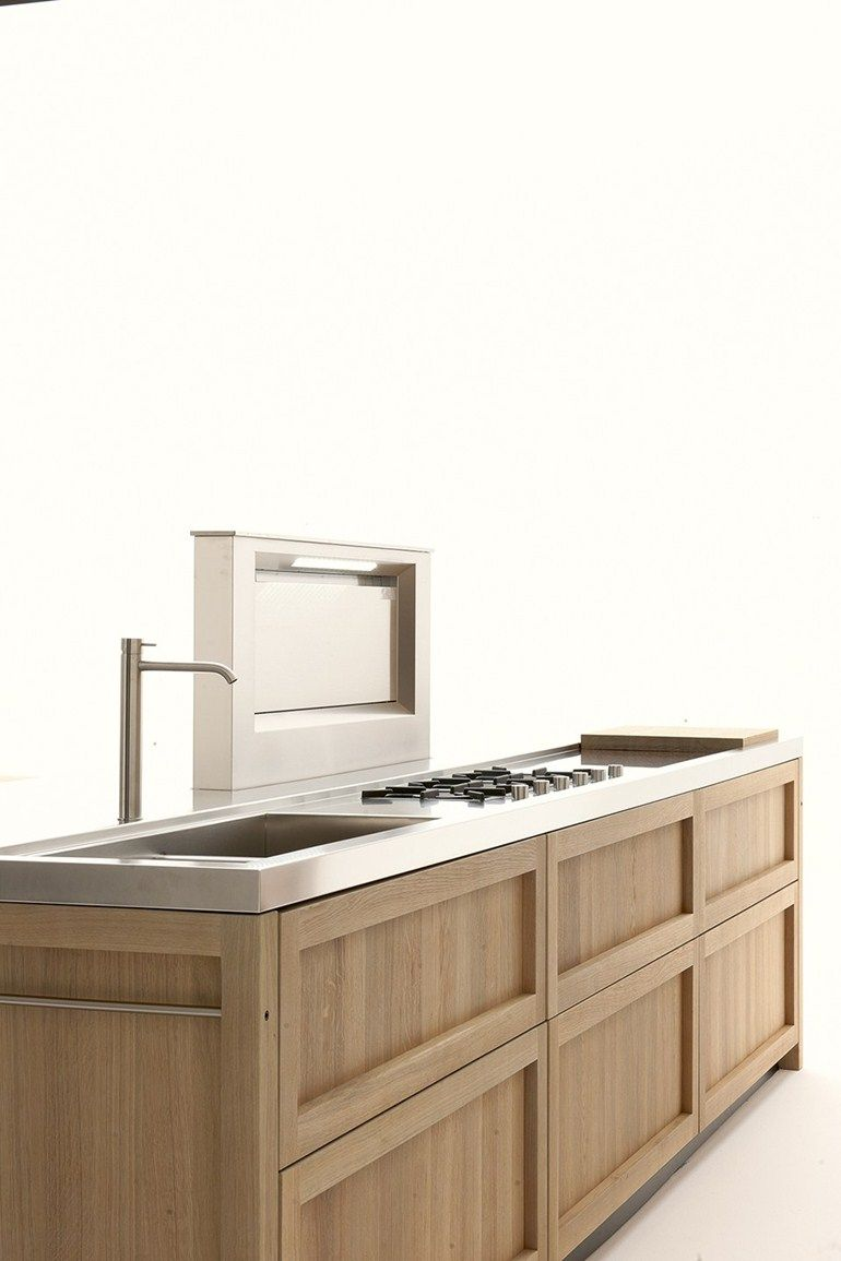 Cucina Rovere Vintage Cucina In Rovere Con Isola Legno Vivo By Ged Cucine By Ged