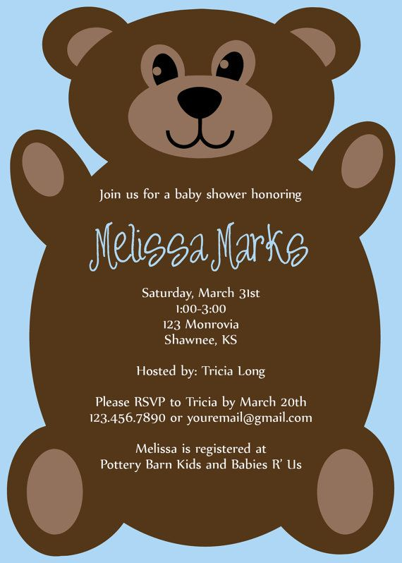 Teddy bear baby shower invitation by jaebirddesign on etsy 1050 free baby shower invitations maker hi guys please come and joint us to debby miller baby shower party debby likes eating and she likes to taste stopboris Images