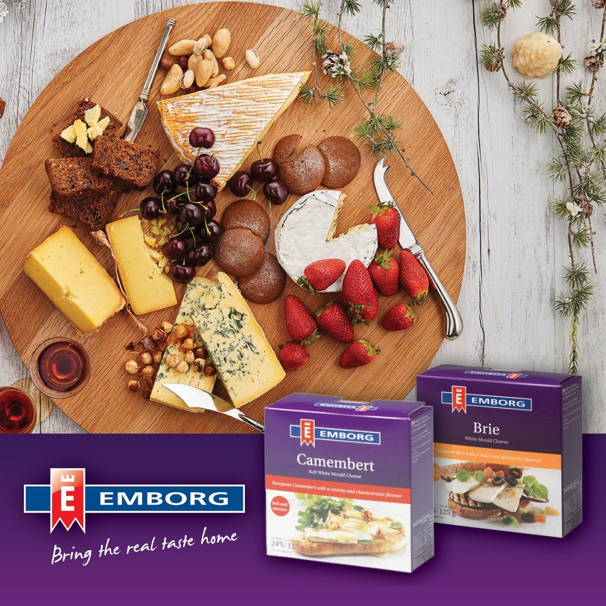 Camembert Or Brie Its Always A Tough Choice Serve Them Both Emborg Camembert Brie Make The Per Perfect Cheese Board Healthy Grilled Cheese Recipes Food
