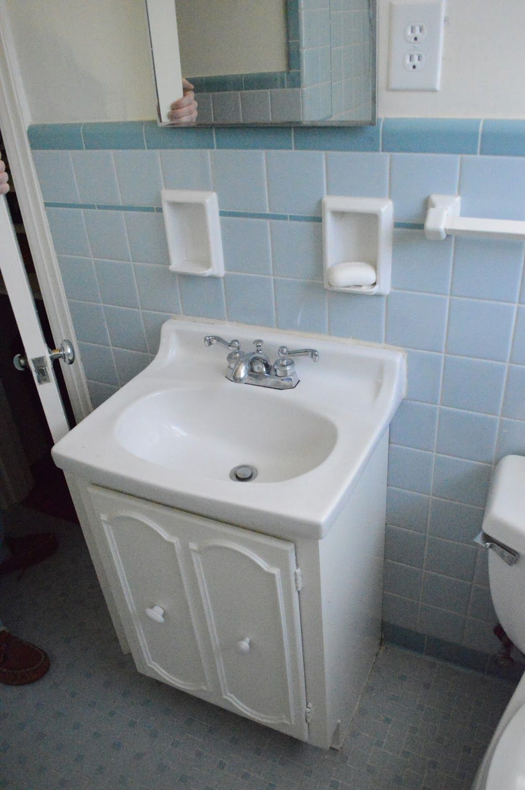 1950s Ranch Home Reno: BEFORE Installing an Updated Vanity in the ...