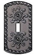 Antique Pewter Resin Cover Plates