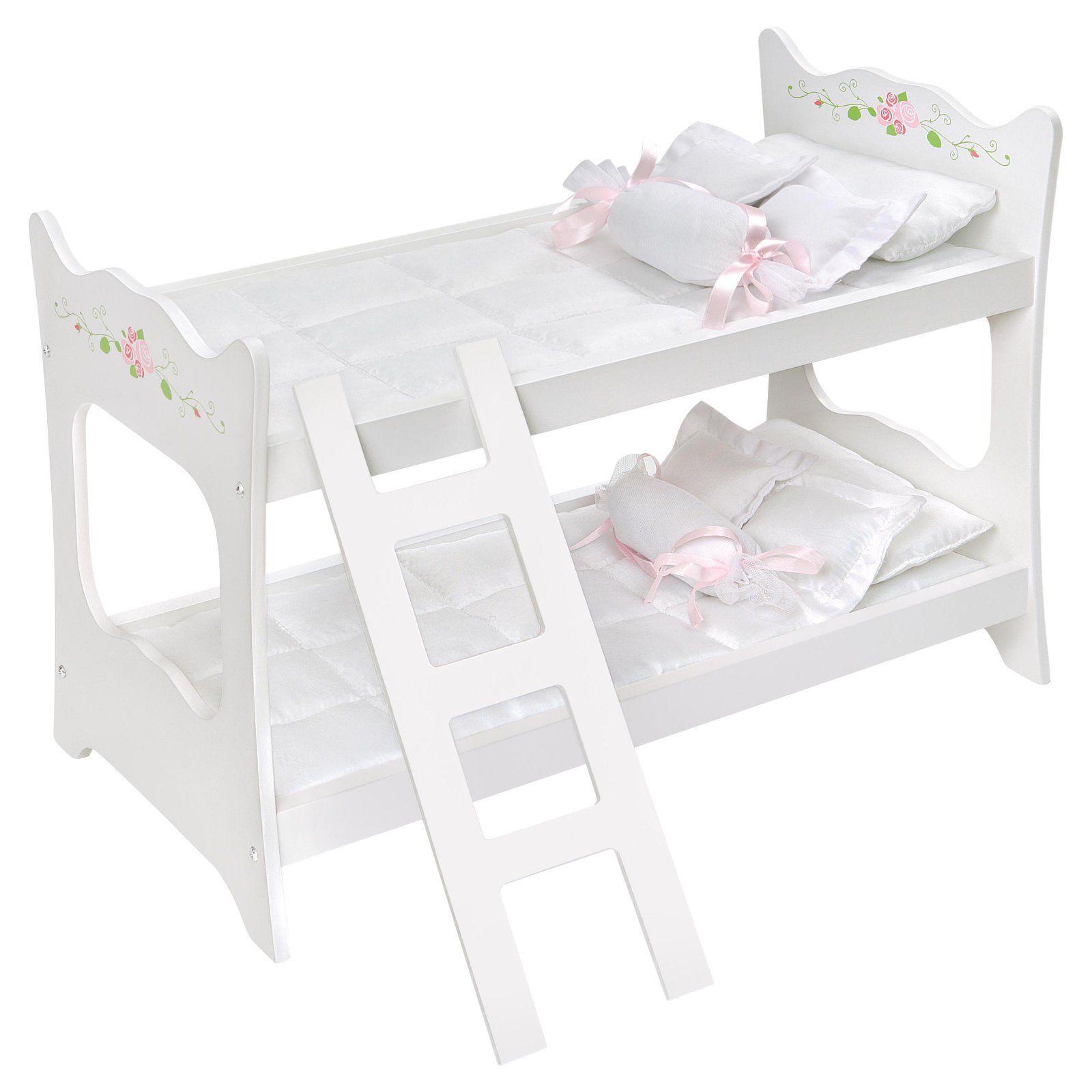 Badger Basket White Rose Doll Bunk Bed in 2019 Doll bunk