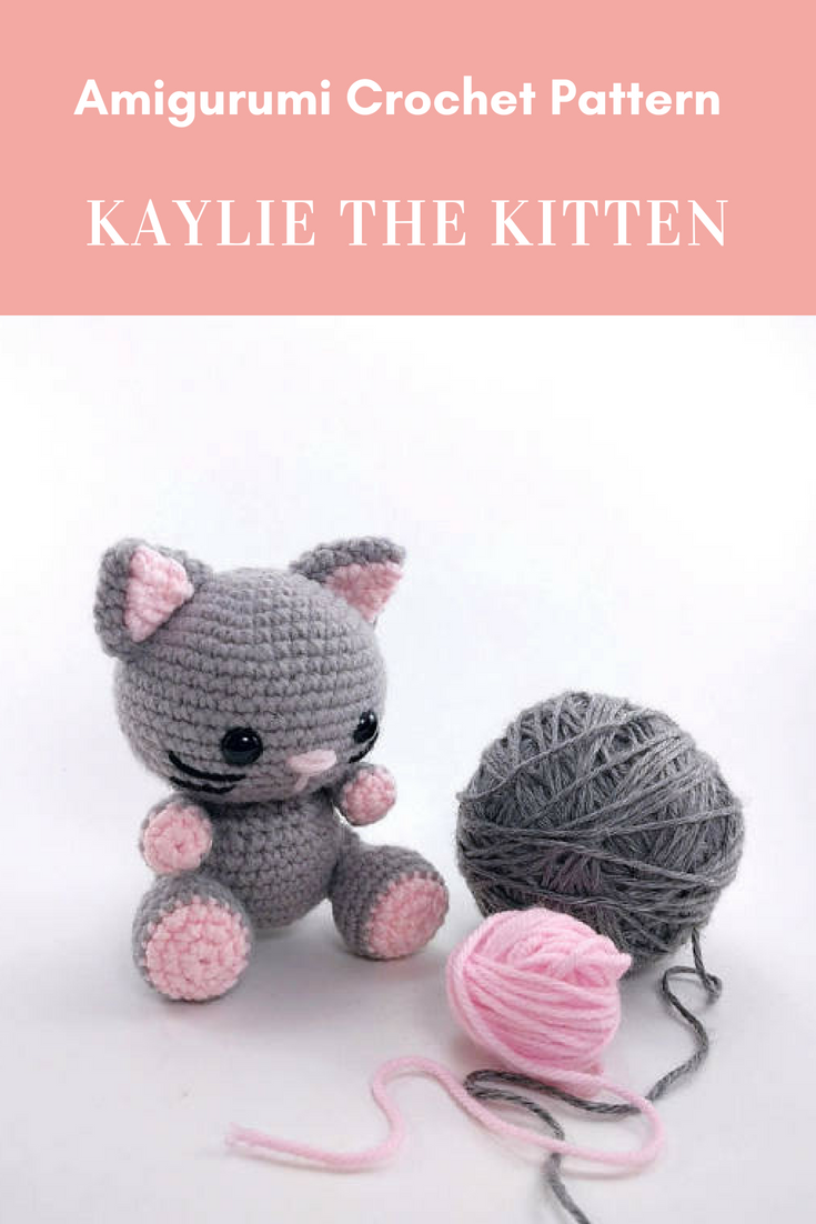 Pattern Kaylie The Kitten Crochet Cat Pattern Amigurumi Etsy Crochet Cat Pattern Small Crochet Gifts Crochet Cat