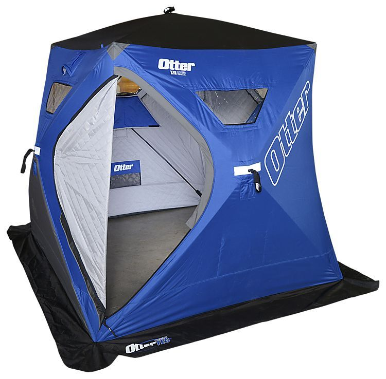 Otter Outdoors XTH Cabin 2-3 Person Hub Insulated Ice Shelter | Bass