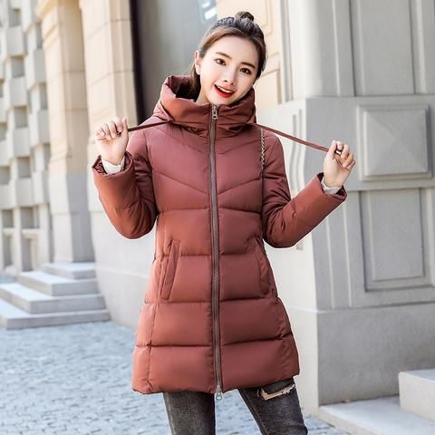 c4de6ec30e2 snow wear 2018 sweet fashion thickening winter coat women medium-long loose parka  female plus size warm down cotton jacket women