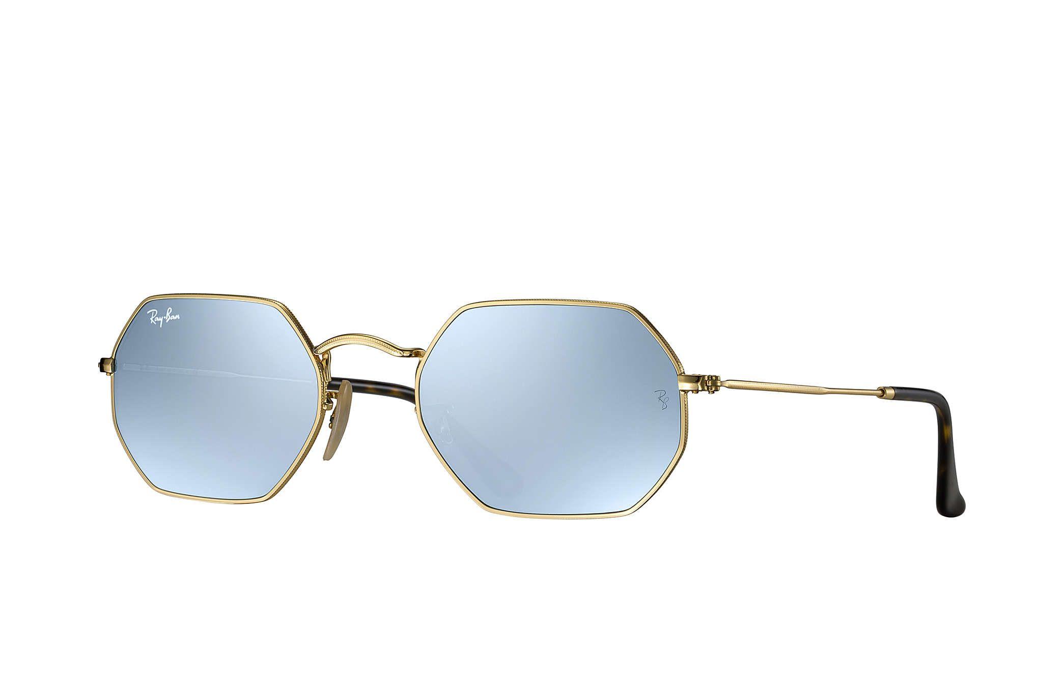 Ray-Ban 0RB3556N-OCTAGONAL FLAT LENSES Gold SUN Comprar Óculos De Sol On- d34f9b5e6c