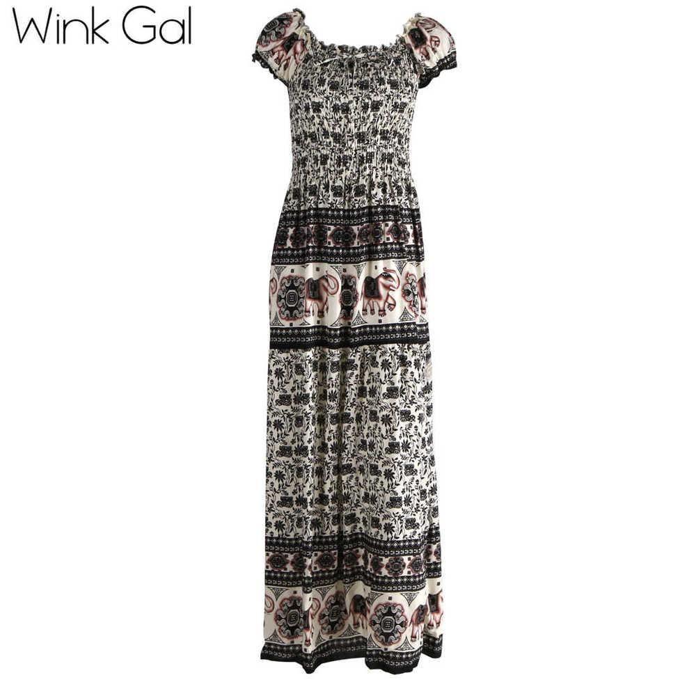 Wink gal long dress maxi dress summer style floor length dress