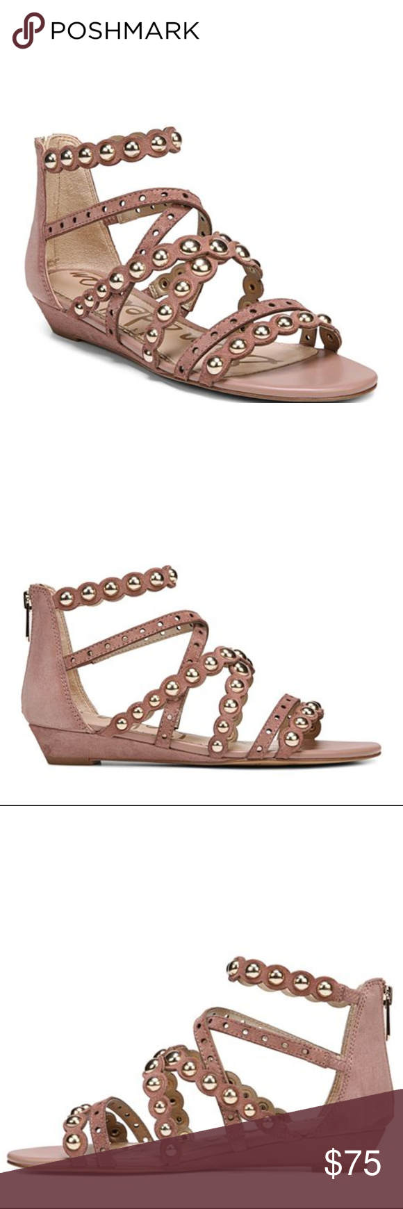 5ffead3a3 Sam Edelman Dustee Studded Suede Gladiator Sandals New without Box Sam  Edelman Women s Dustee Studded Suede