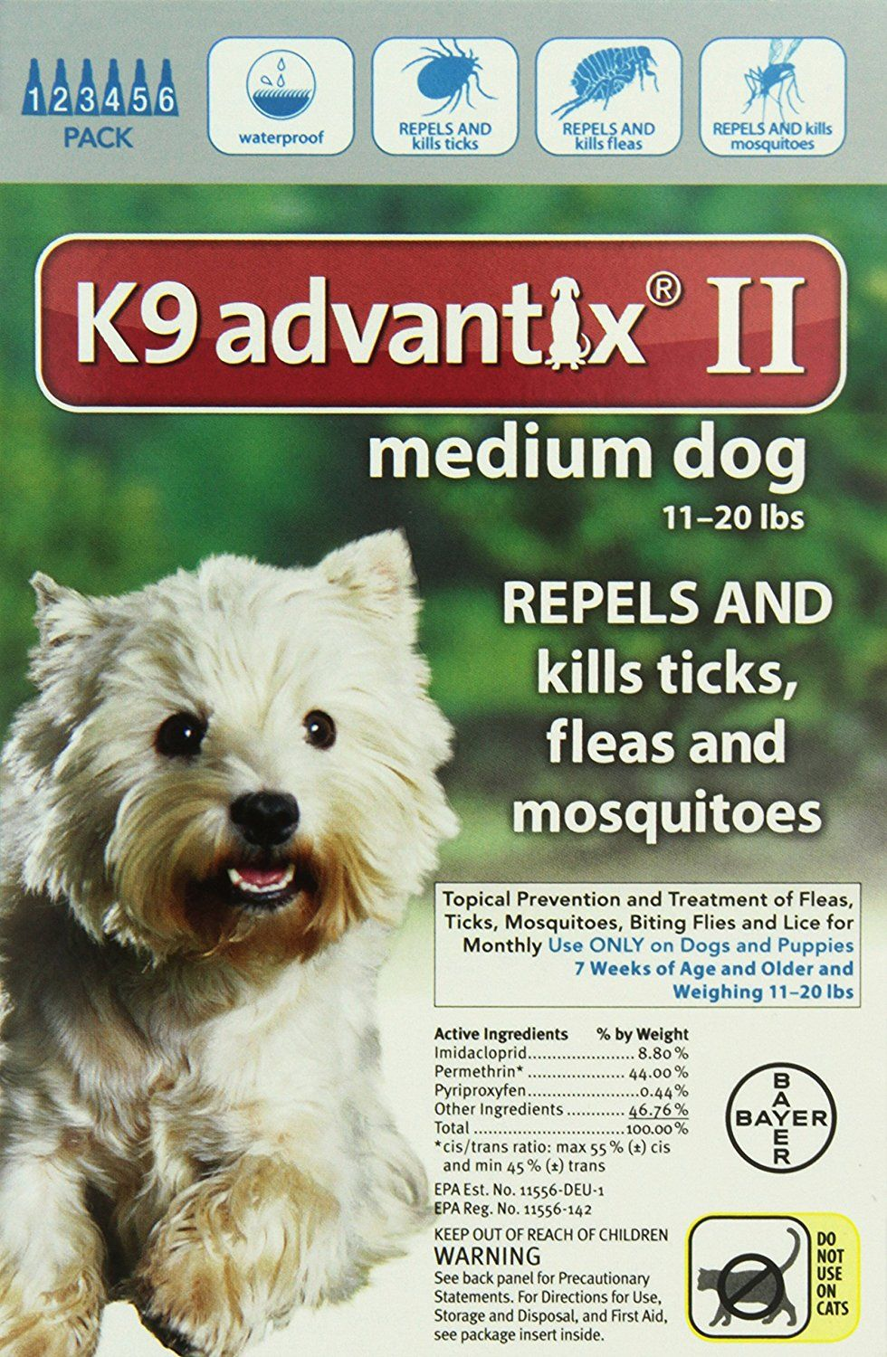 K9 Advantix Ii Medium Dogs 11 To 20 Pound 6 Month Check This Awesome Image This Is An Amazon Affiliate Link I May Earn Commiss Medium Dogs Dogs Fleas