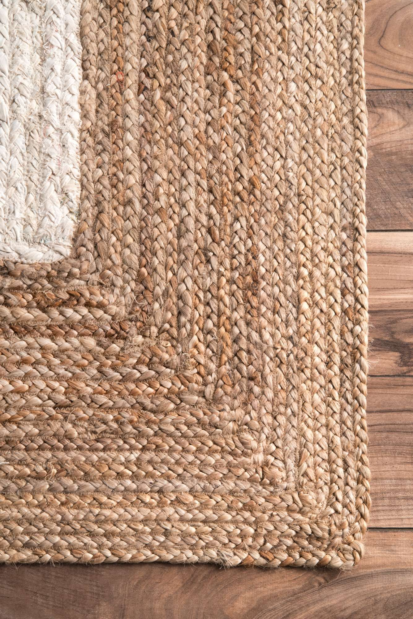 Aucklandcl01 solid wide border rug area rugs jute area