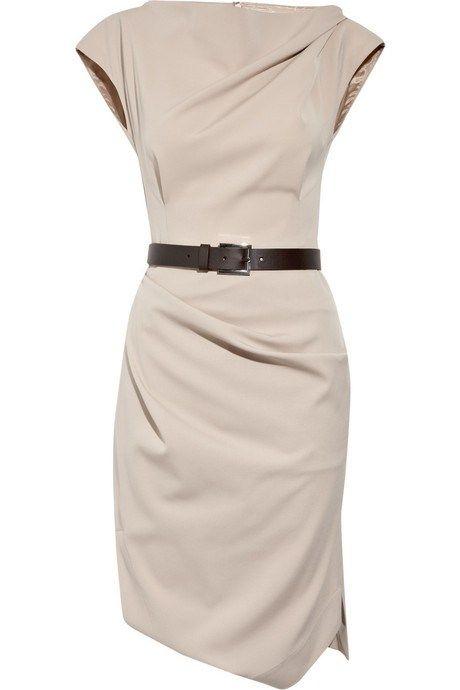 Michael Kors Belted stretch-wool dress
